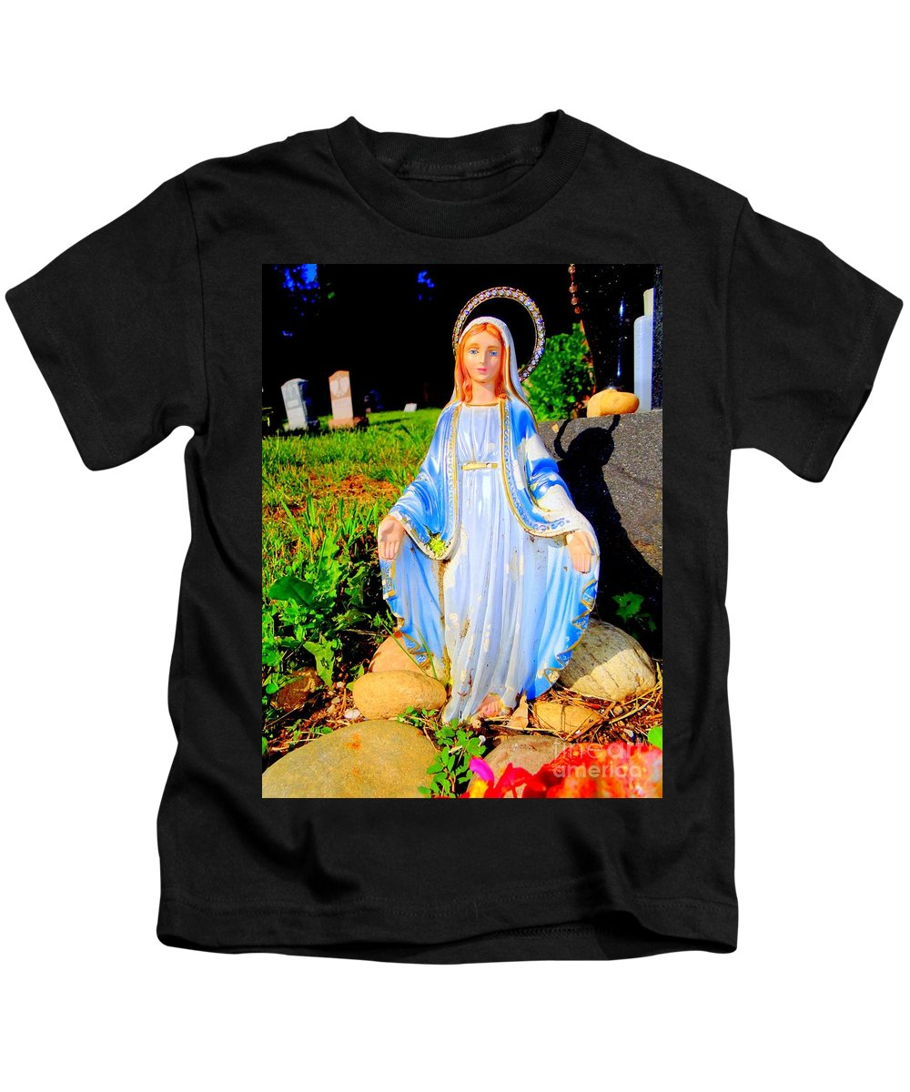 Pop Art Kids T-Shirt featuring the photograph Mary In Sunlight by Ed Weidman