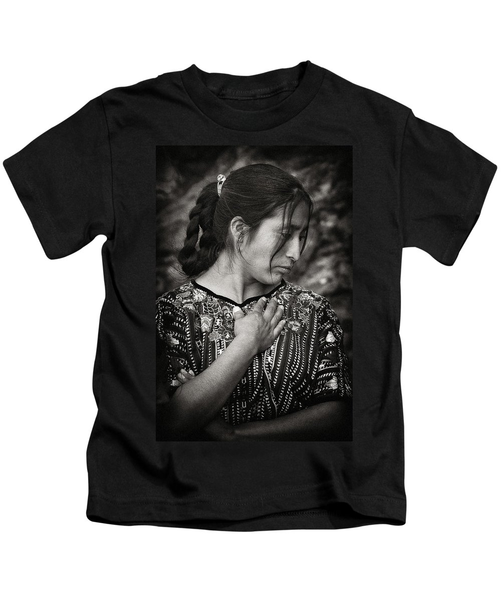 Mayan Kids T-Shirt featuring the photograph Mayan Beauty by Tom Bell