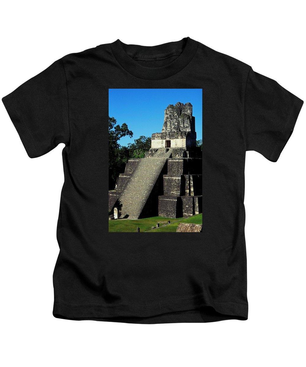 Guatemala Kids T-Shirt featuring the photograph Mayan Ruins - Tikal Guatemala by Juergen Weiss