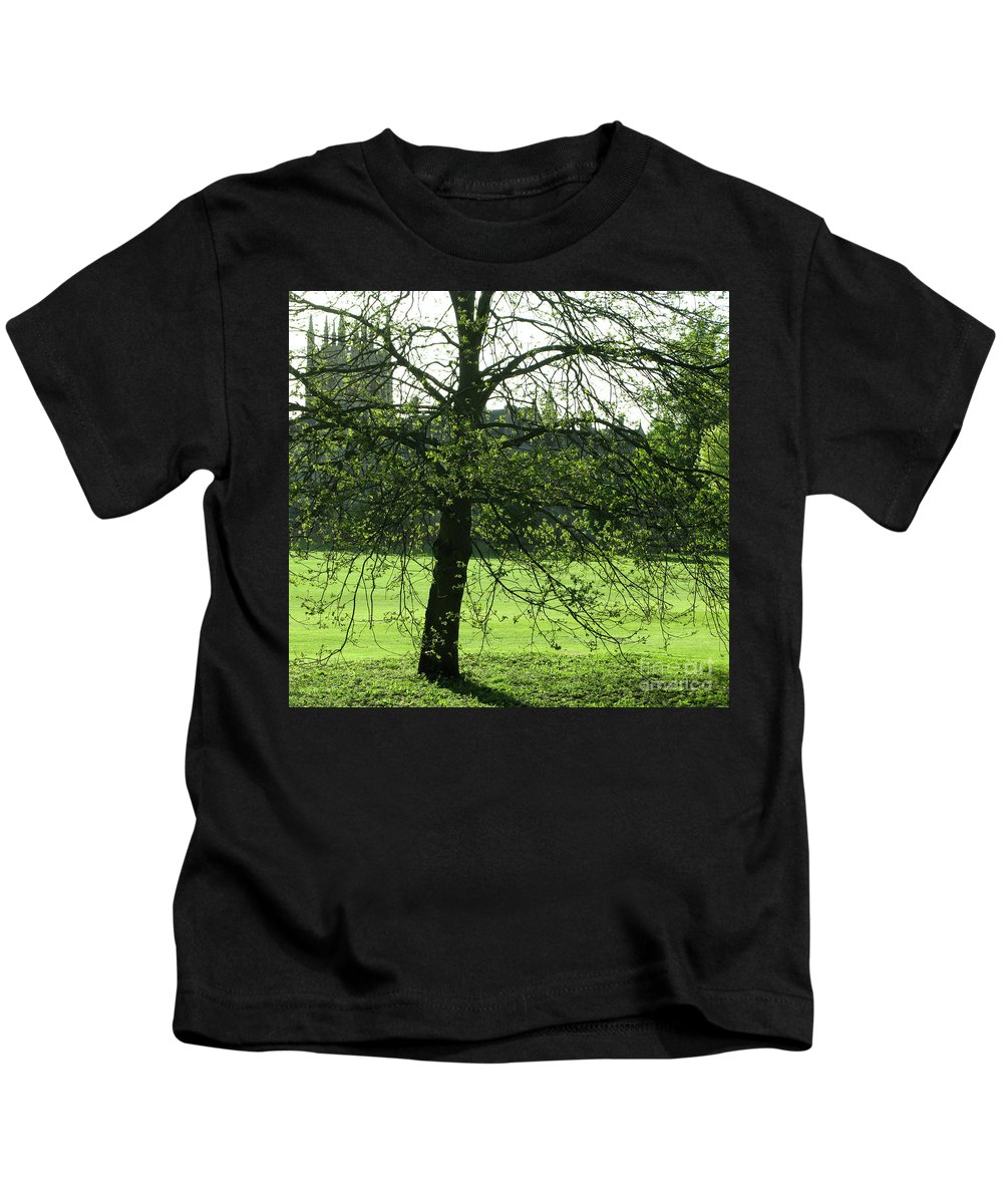 Oxford University Kids T-Shirt featuring the photograph Meadow View by Ann Horn