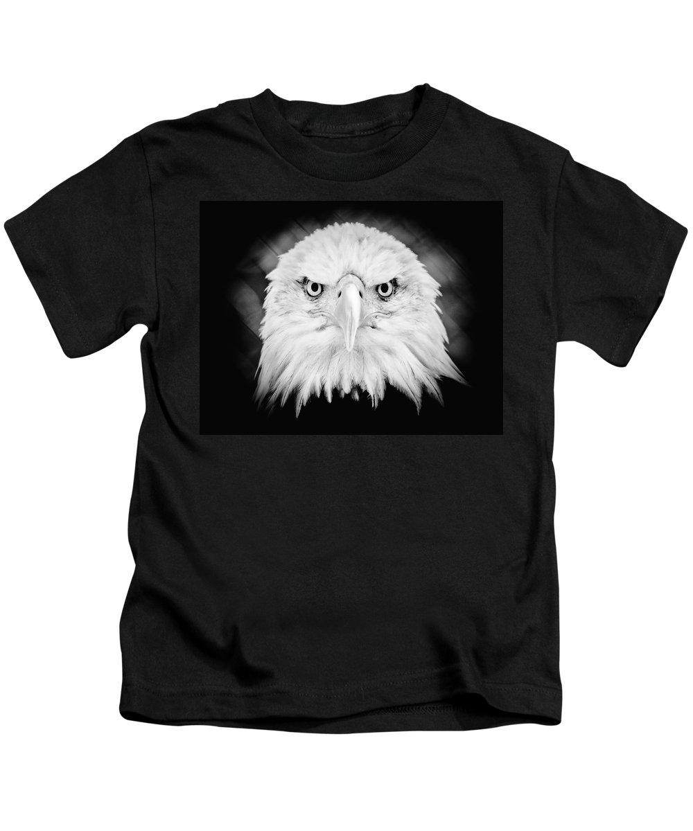 Eagle Kids T-Shirt featuring the photograph Mean Mug by Athena Mckinzie