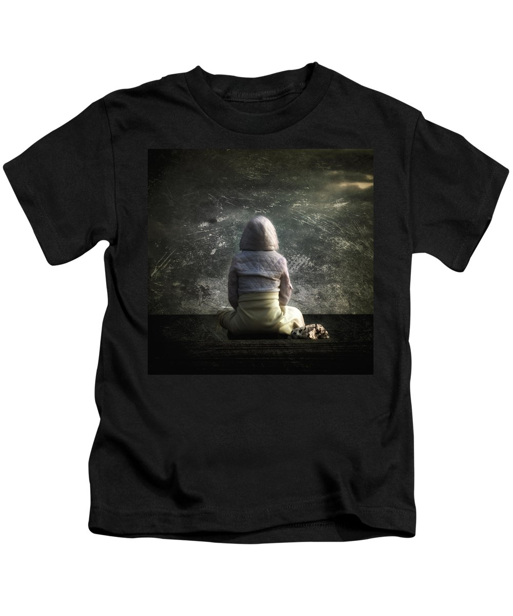 Air Kids T-Shirt featuring the photograph Meditation by Stelios Kleanthous