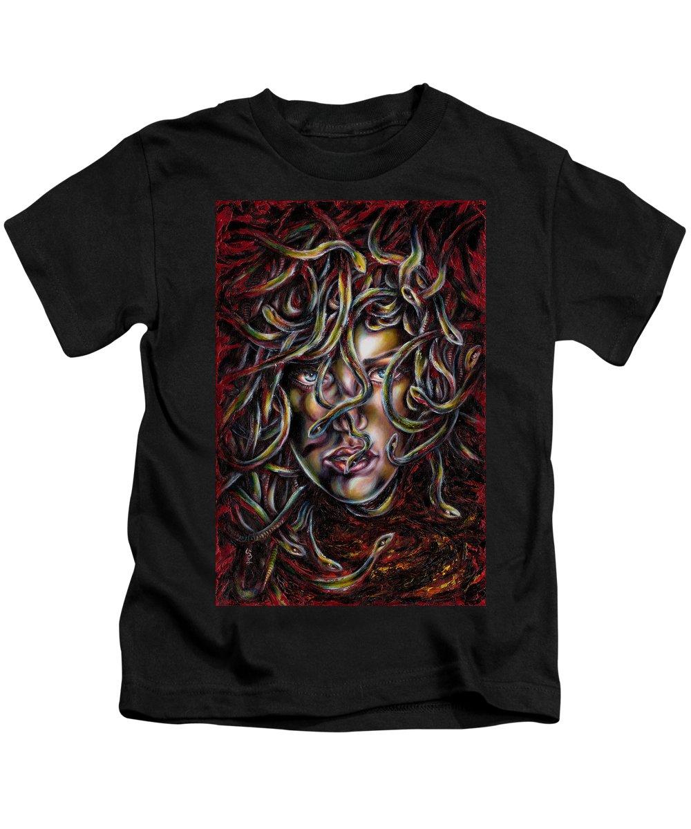 Medusa Kids T-Shirt featuring the painting Medusa No. Three by Hiroko Sakai