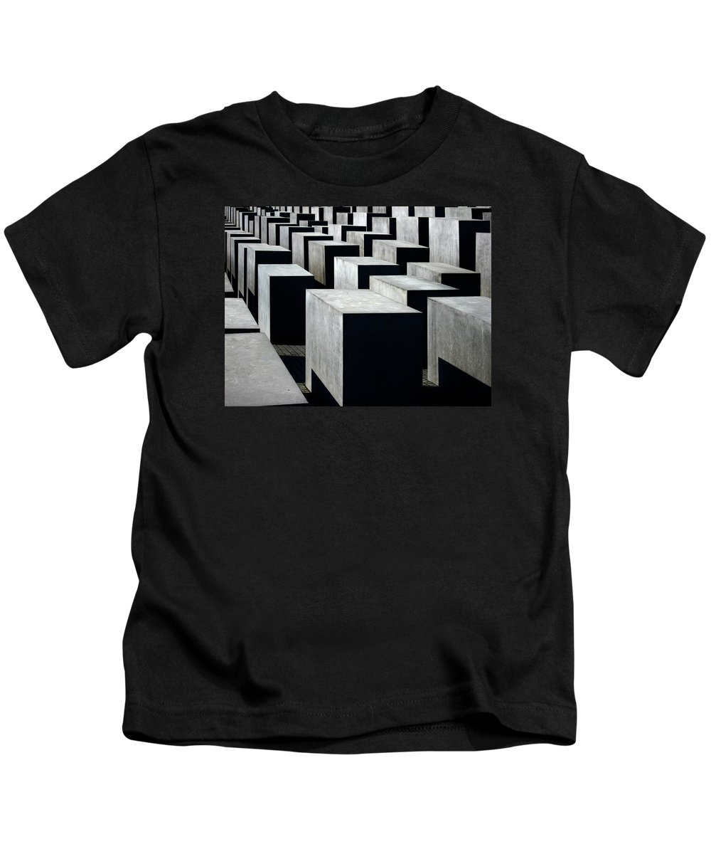 Monument Kids T-Shirt featuring the photograph Memorial To The Murdered Jews Of Europe by RicardMN Photography