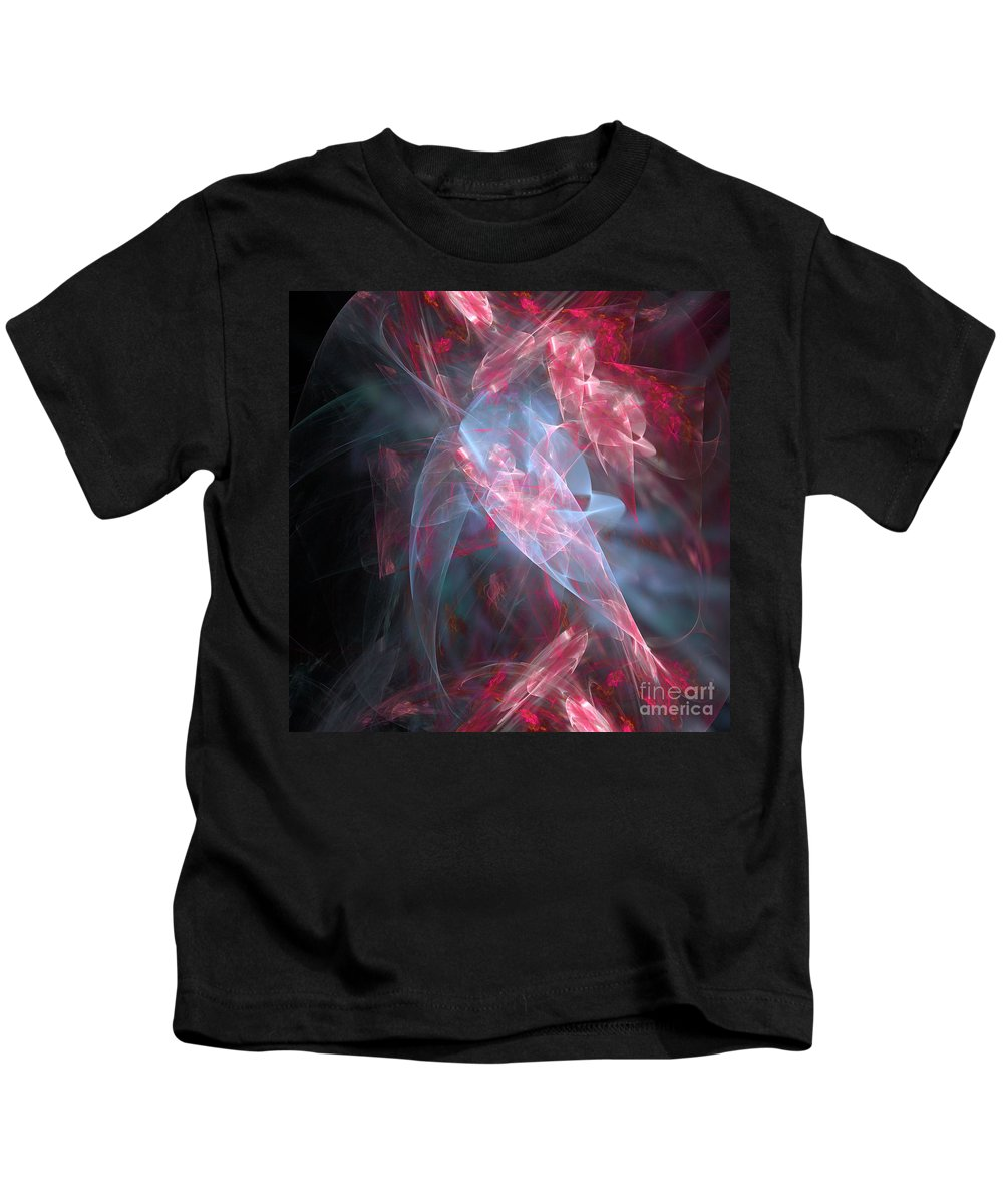 Abstract Kids T-Shirt featuring the digital art Mercy And Truth Have Met Together Righteousness And Peace Have Kissed by Margie Chapman