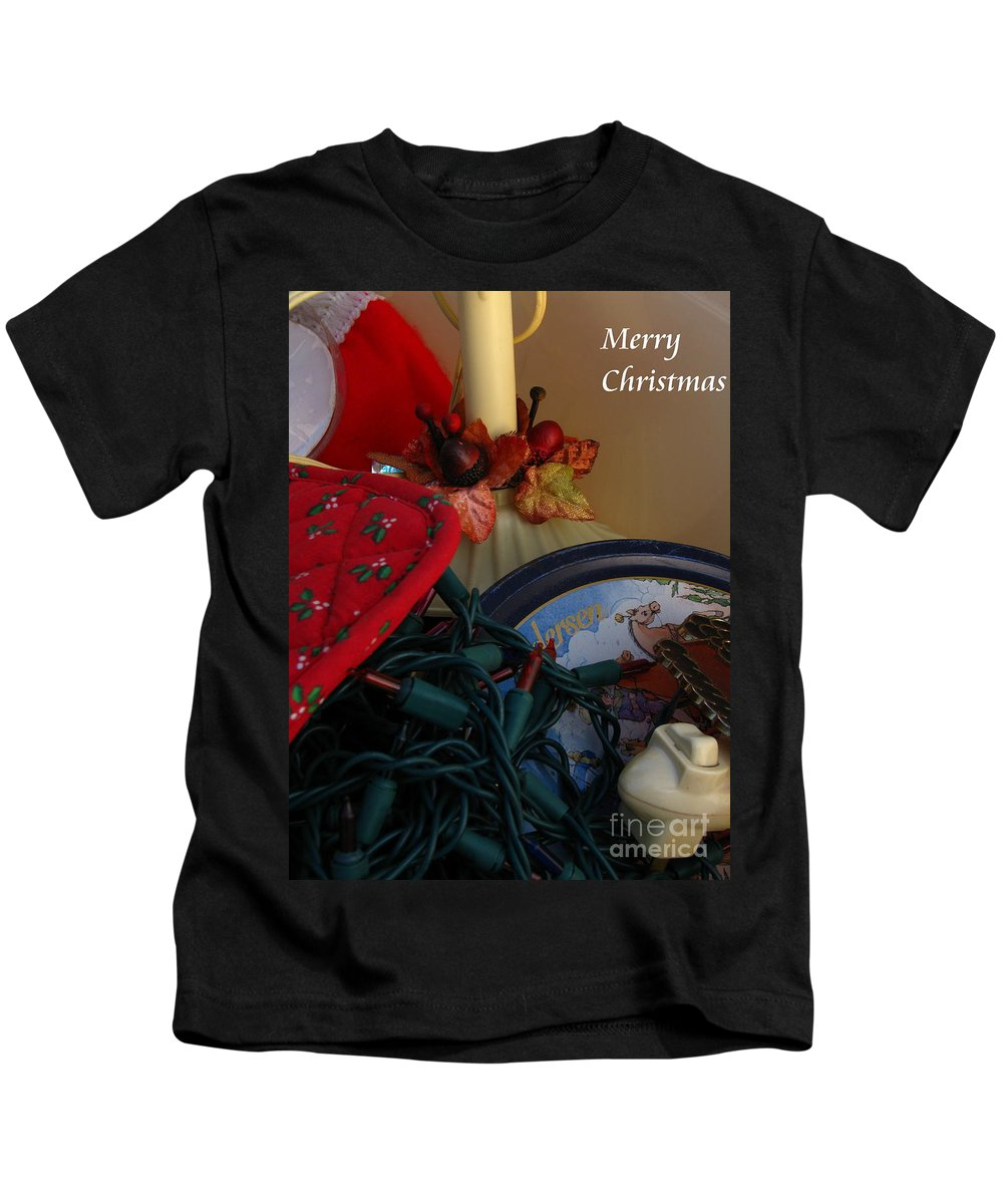 Patzer Kids T-Shirt featuring the photograph Merry Christmas by Greg Patzer