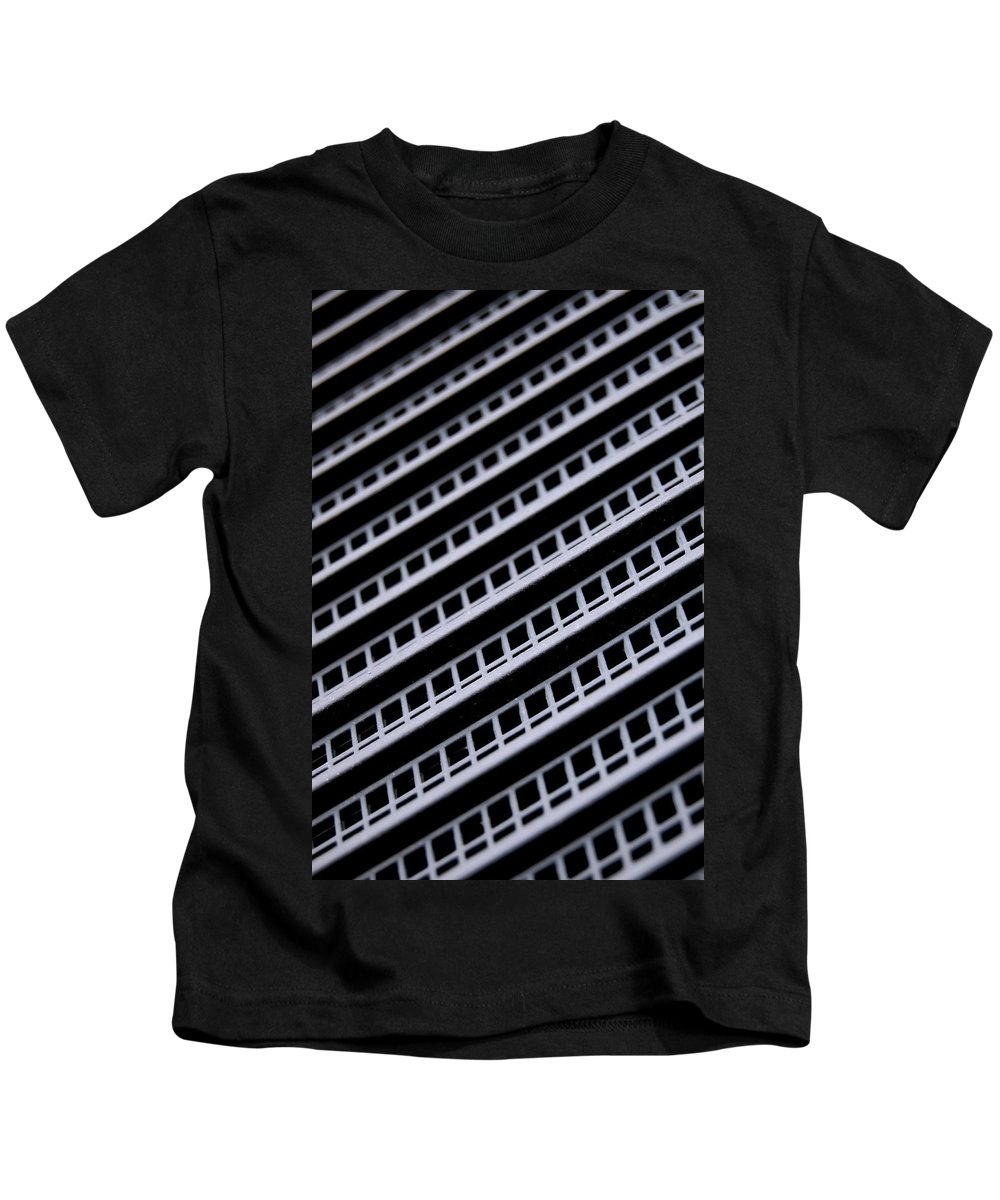 Metal Kids T-Shirt featuring the photograph Metal Texture Oblique by Gina Dsgn
