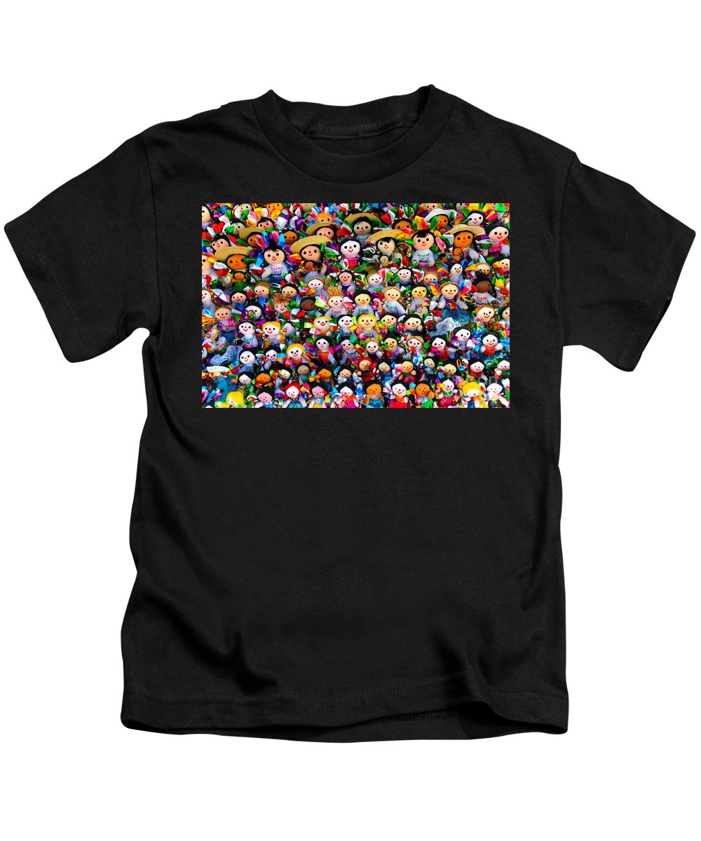 Travel Kids T-Shirt featuring the photograph Mexican Dolls by John Shaw