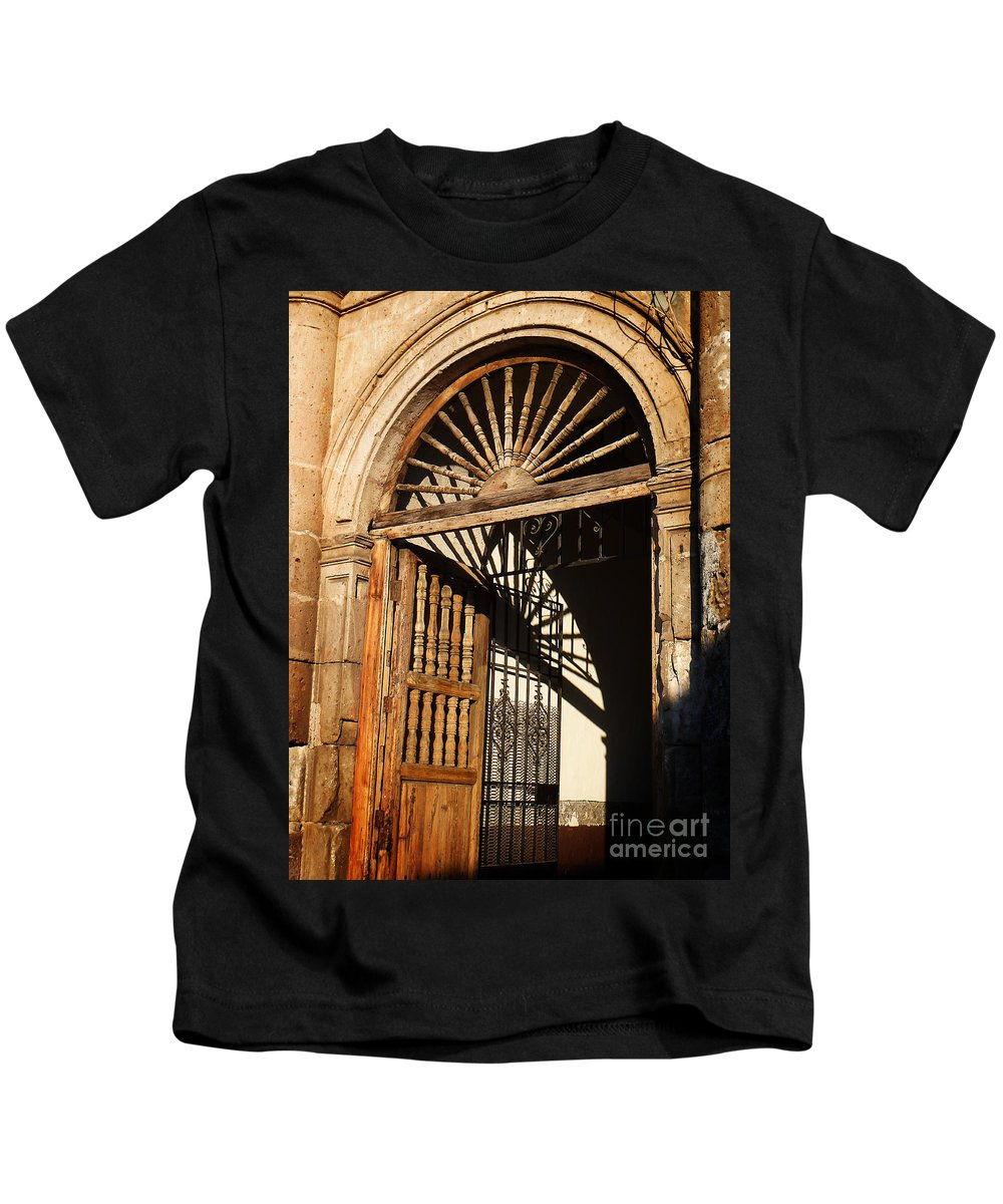 North America Kids T-Shirt featuring the photograph Mexican Door 27 by Xueling Zou