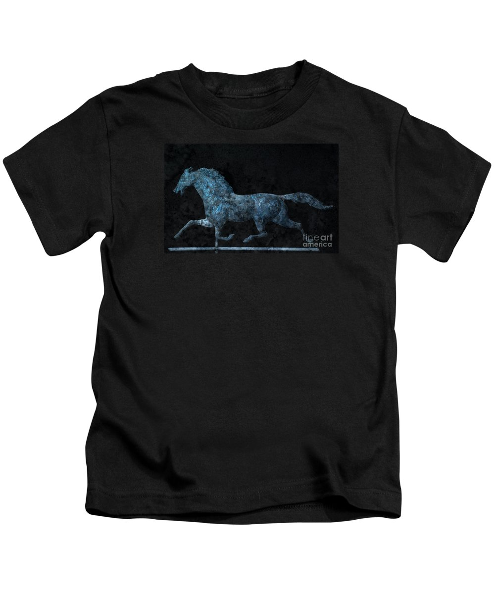 Weathervane Kids T-Shirt featuring the photograph Midnight Run - Weathervane by John Stephens
