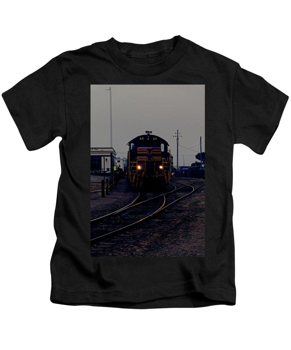 Locomotive Kids T-Shirt featuring the photograph Midnight Train by Scott Hill