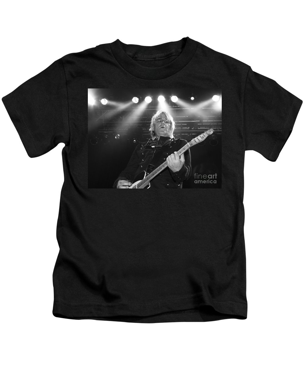 Mike Peters Kids T-Shirt featuring the photograph Mike Peters The Alarm By Diana Sainz by Diana Raquel Sainz