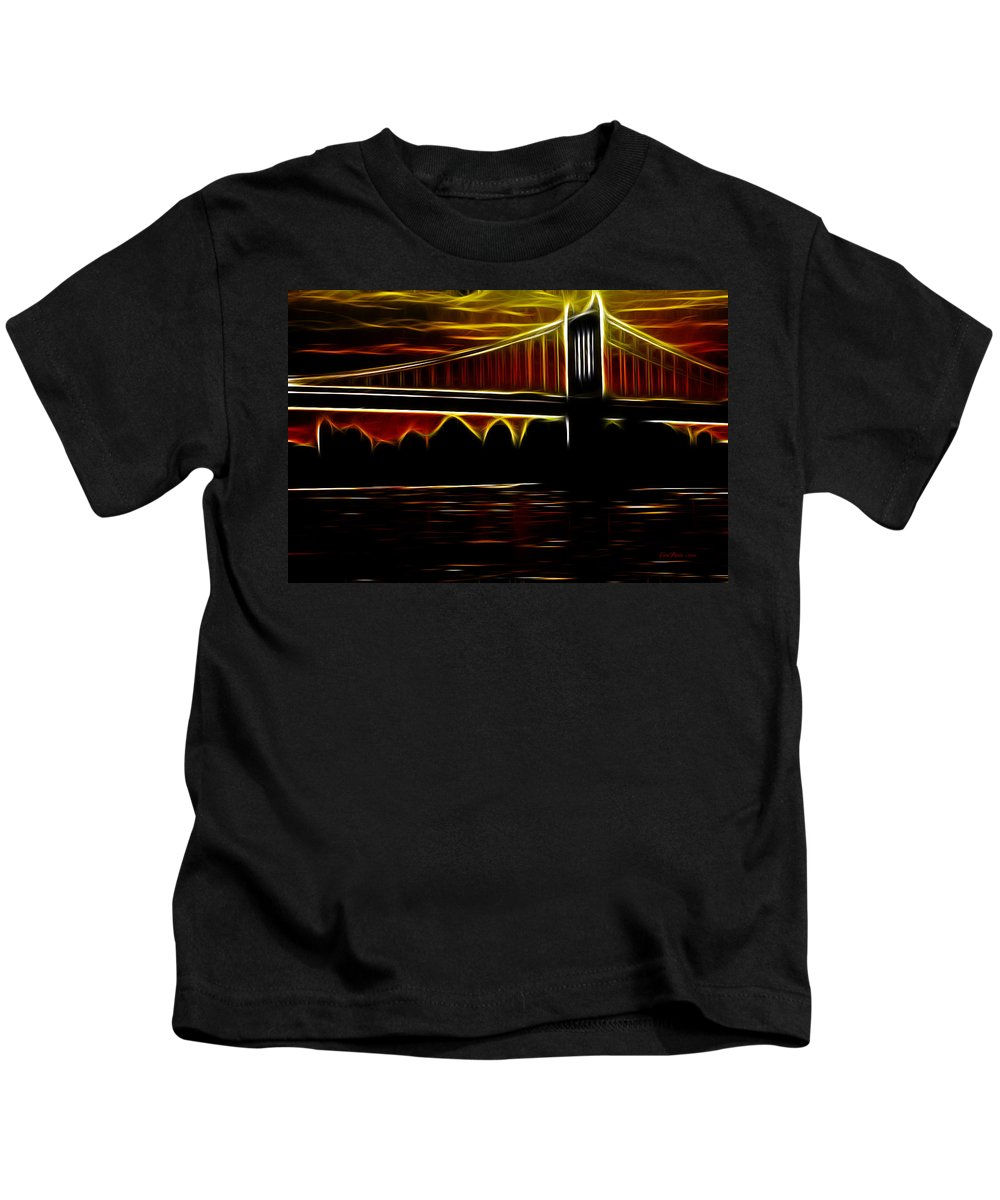 Bridge Kids T-Shirt featuring the photograph Minnesota Sunset by Ericamaxine Price