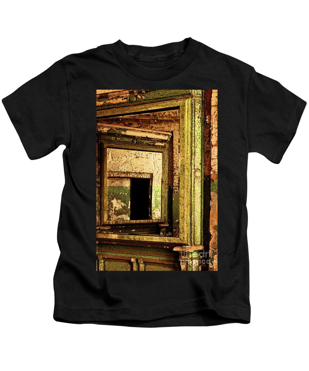 Eastern State Penitentiary Kids T-Shirt featuring the photograph Mirror Within A Mirror by Paul W Faust - Impressions of Light
