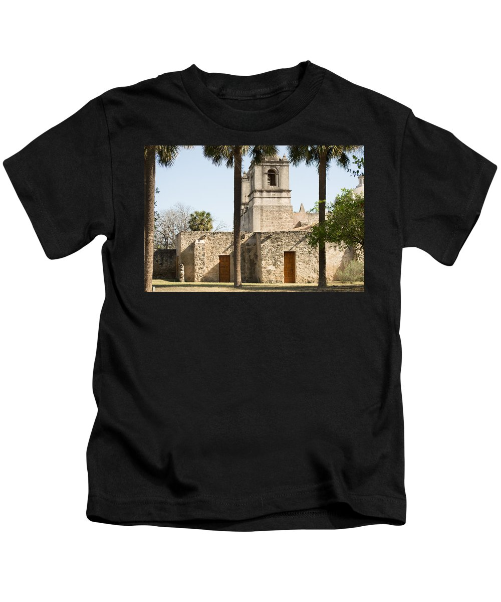 Texas Kids T-Shirt featuring the photograph Mission Concepcion In San Antonio by JG Thompson