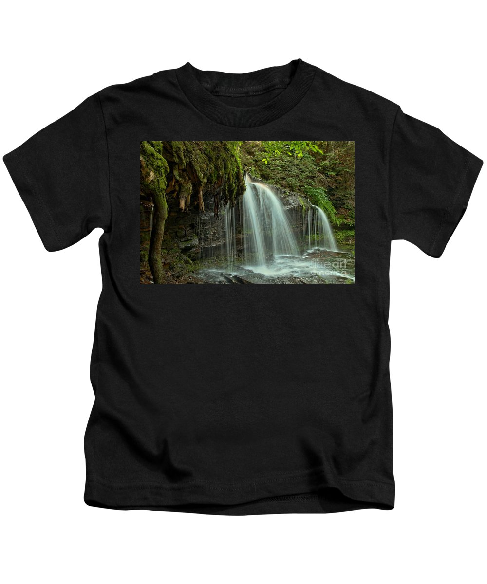 Mohawk Falls Kids T-Shirt featuring the photograph Mohawk Streams And Roots by Adam Jewell