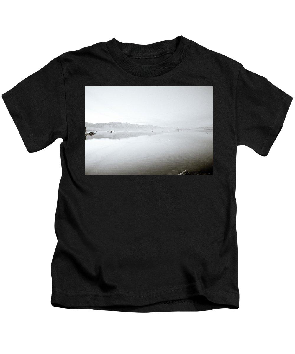Inspiration Kids T-Shirt featuring the photograph Mono Lake Serenity by Shaun Higson