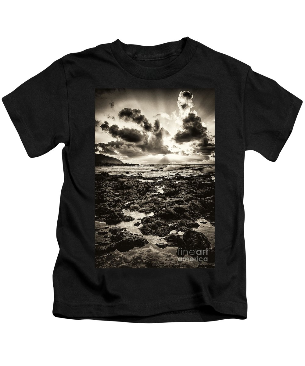 Hawaii Kids T-Shirt featuring the photograph Monotone Explosion by Anthony Bonafede