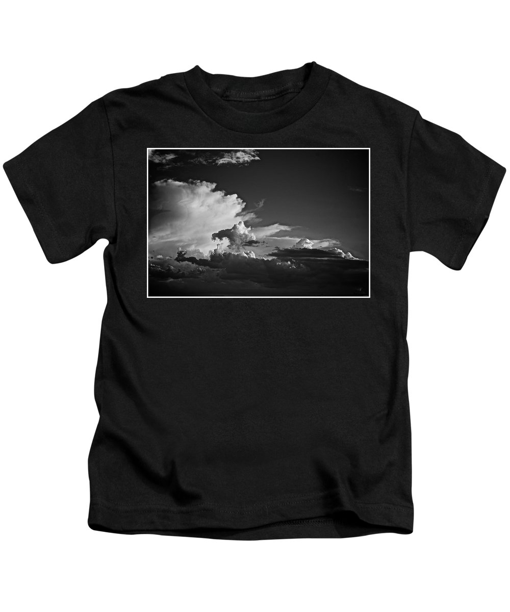 Monsoon Kids T-Shirt featuring the photograph Monsoon Clouds At Sunset by Barbara Zahno