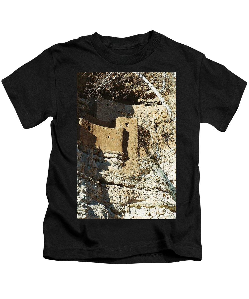 Arizona Kids T-Shirt featuring the photograph Montezuma's Castle by Kerri Mortenson