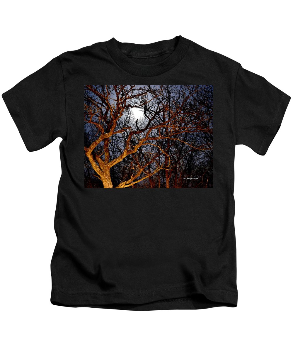 Full Moon Kids T-Shirt featuring the photograph Moonshine 3 by Susie Loechler