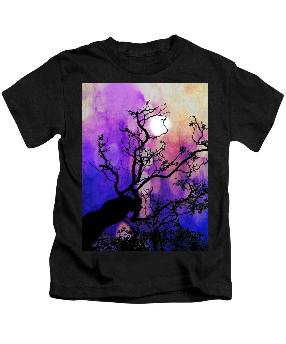 Moon Kids T-Shirt featuring the digital art Moonshine by Nicola Morgan