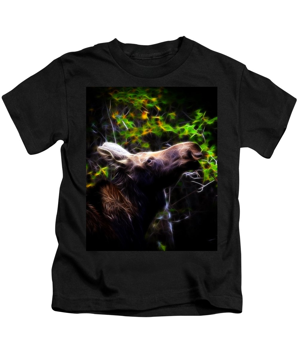 Hunting Kids T-Shirt featuring the photograph Moose by Steve McKinzie