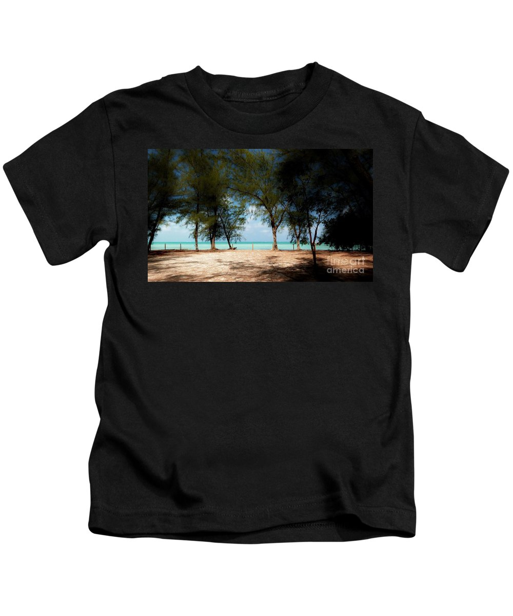 Morning Shadows Under Casurina Trees Kids T-Shirt featuring the photograph Morning Shadows by Amar Sheow