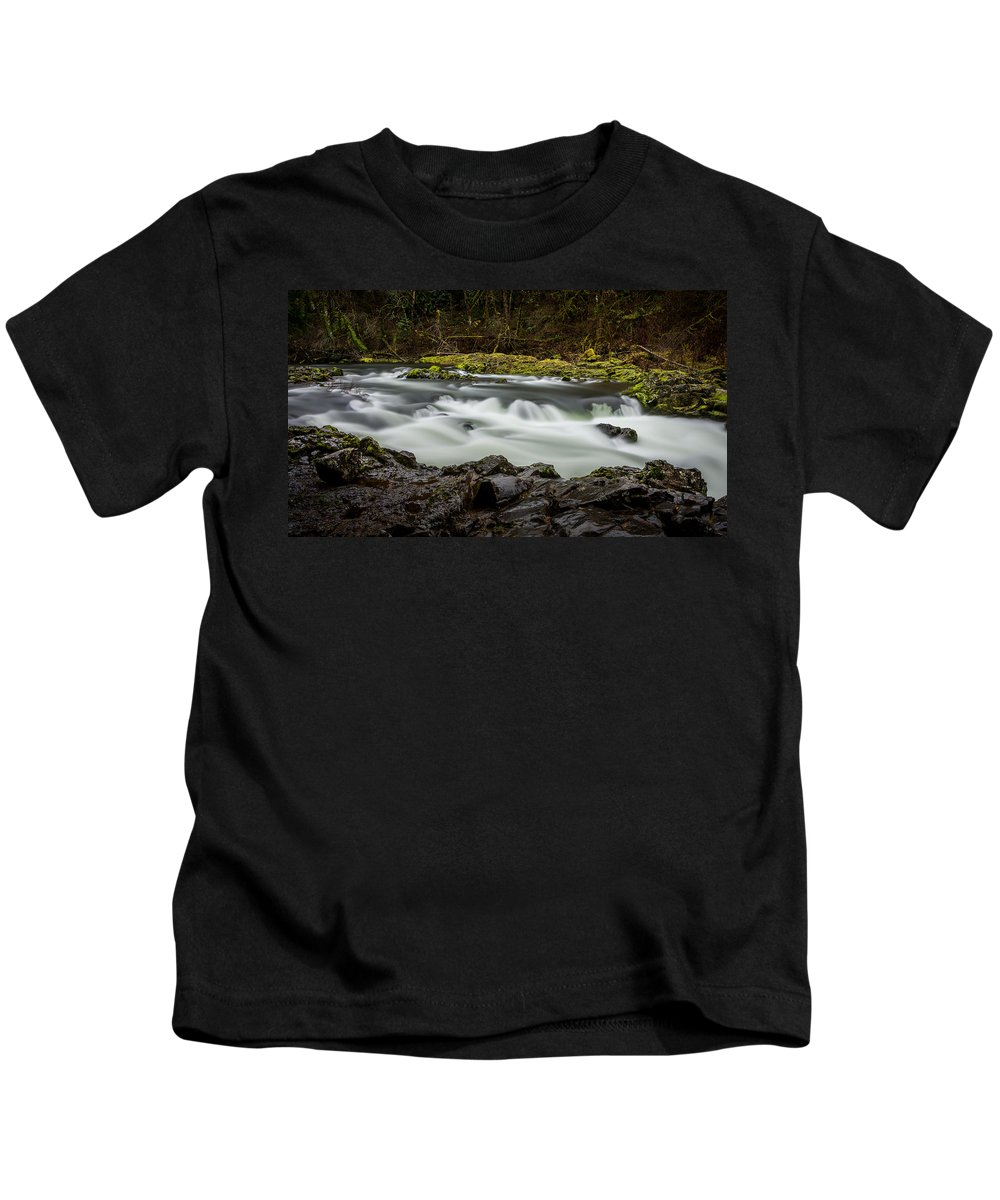 Moulton Falls Kids T-Shirt featuring the photograph Moulton Falls 1 by Mike Penney