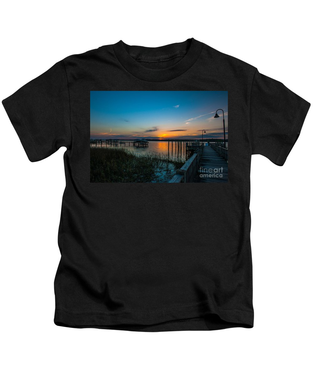 Sunset Kids T-Shirt featuring the photograph Mount Pleasant Sunset by Dale Powell