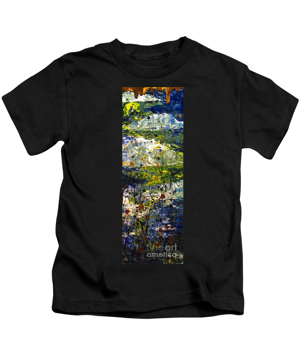 Water Kids T-Shirt featuring the painting Mountain Creek by Jacqueline Athmann