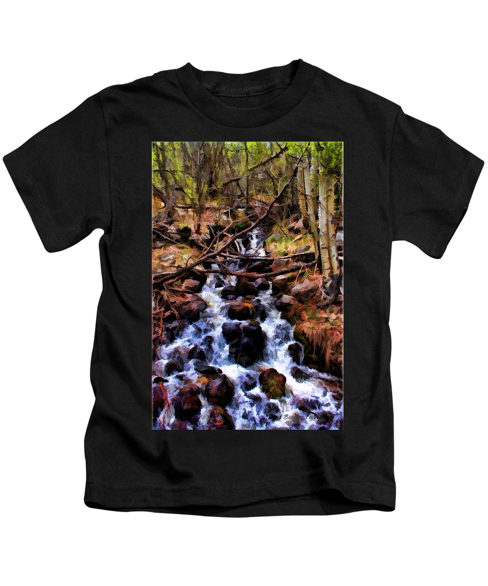 Stream Kids T-Shirt featuring the photograph Mountain Stream by David Sanchez