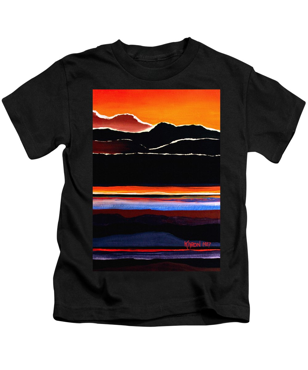 Mountain Abstract Kids T-Shirt featuring the painting Mountains Abstract by Karon Melillo DeVega