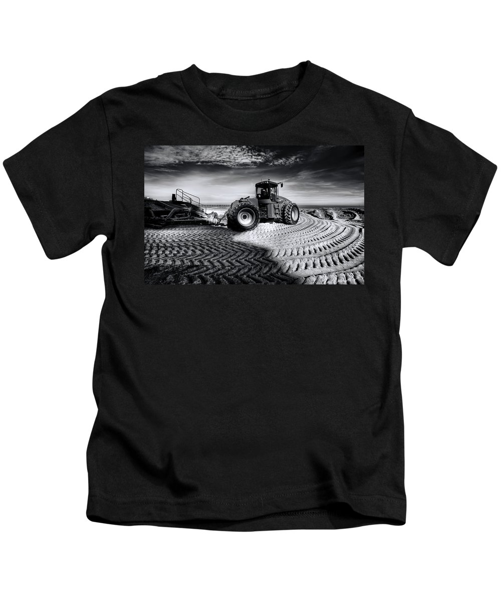 Dredge Kids T-Shirt featuring the photograph Moving Heaven And Earth by Wayne Sherriff