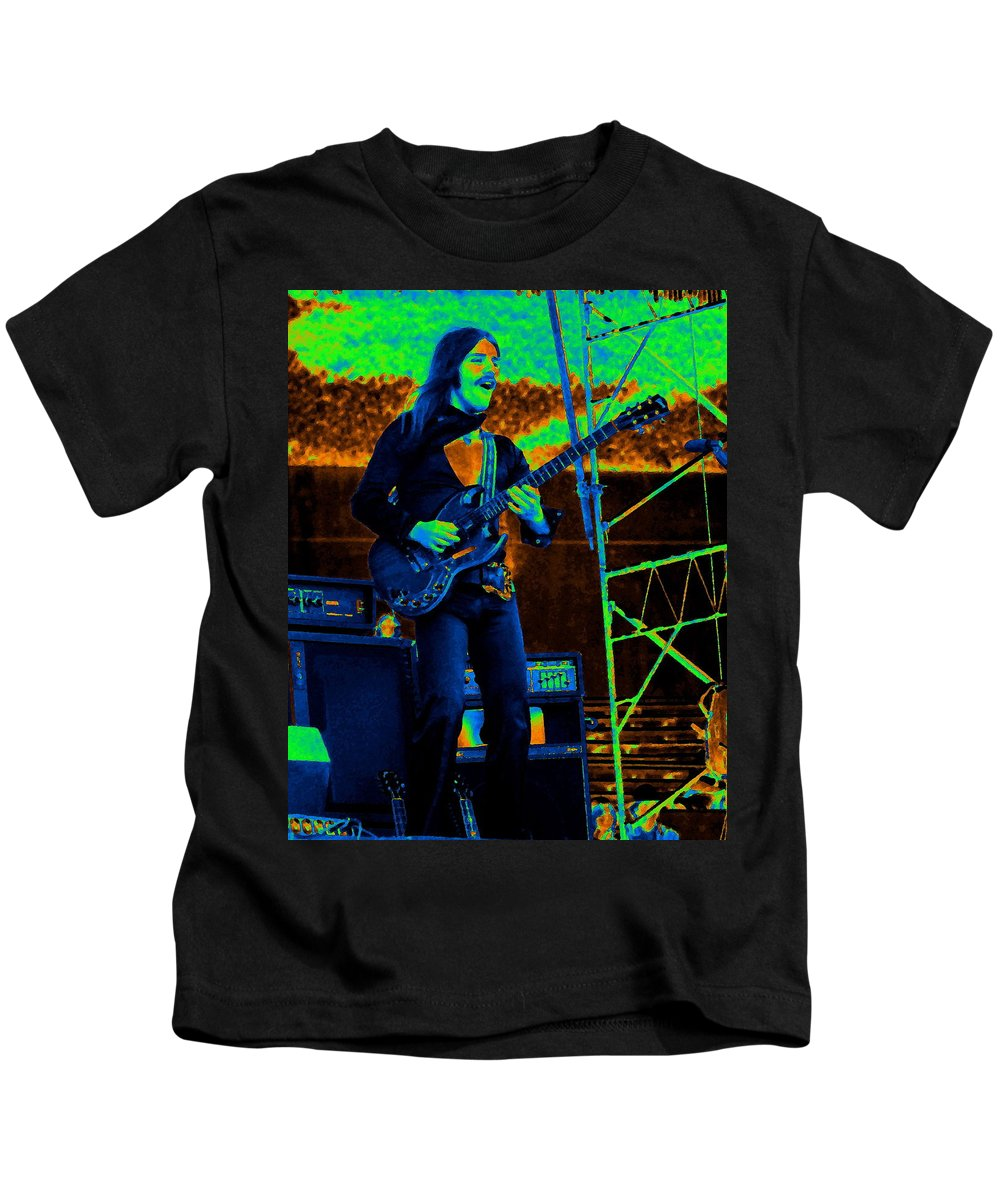 Frank Marino Kids T-Shirt featuring the photograph Mrdog #100 Enhanced In Cosmicolors by Ben Upham