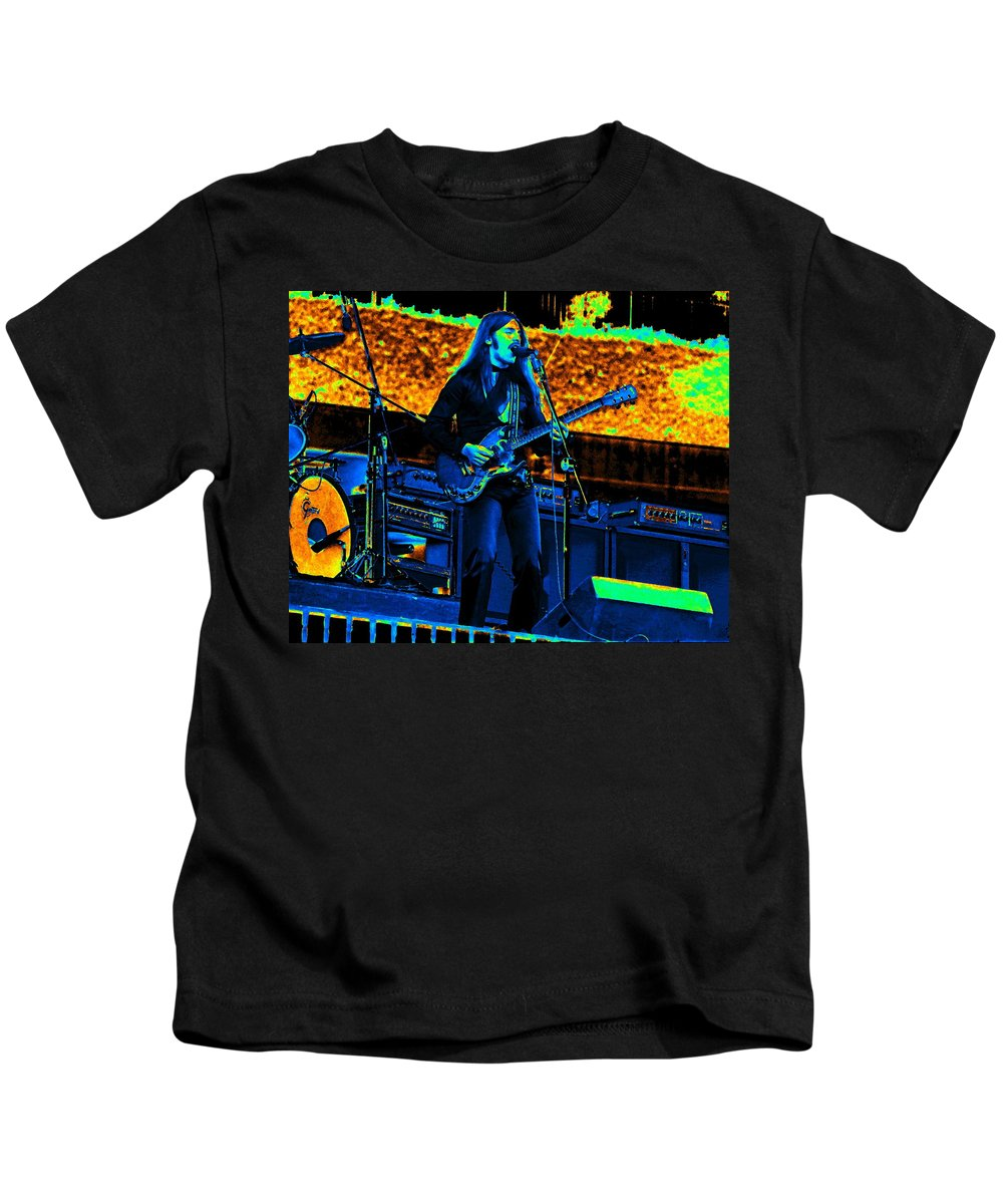 Frank Marino Kids T-Shirt featuring the photograph Mrdog #99 Enhanced In Cosmicolors by Ben Upham