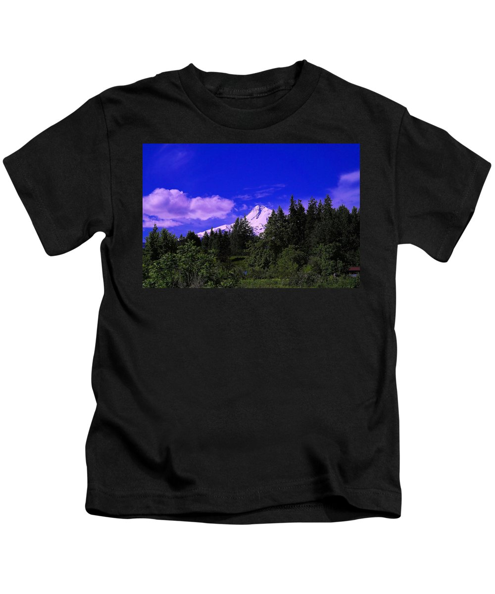 Mountains Kids T-Shirt featuring the photograph Mt Hood by Jeff Swan