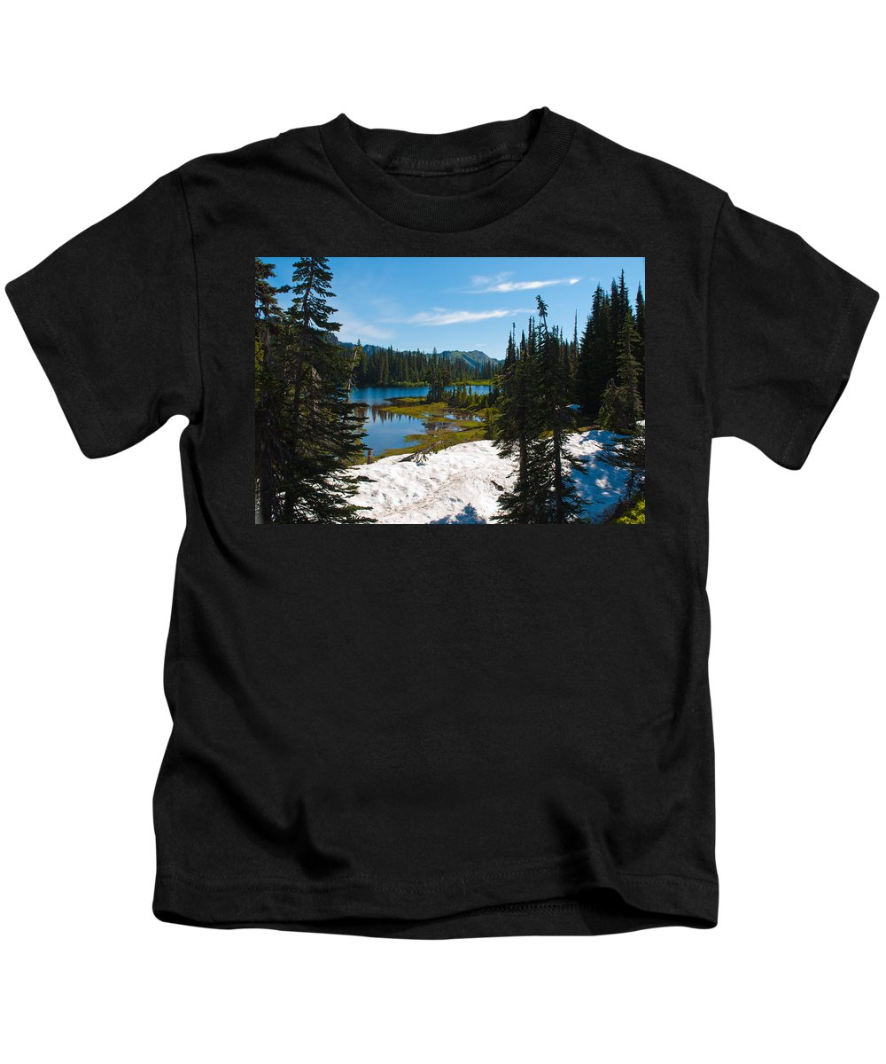 Reflection Lake Kids T-Shirt featuring the photograph Mt. Rainier Wilderness by Tikvah's Hope