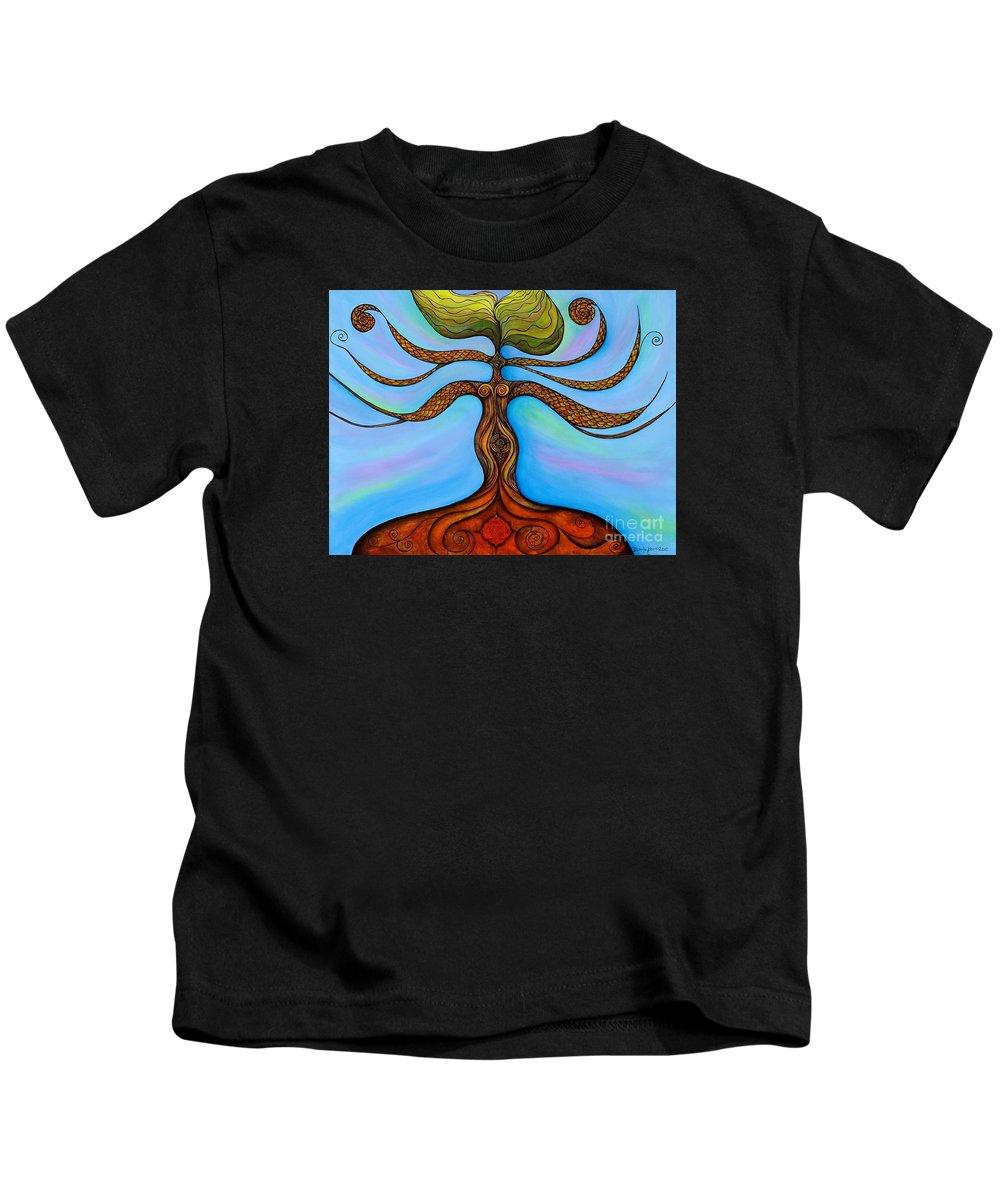 Chakra Paintings Kids T-Shirt featuring the painting Muladhara by Deborha Kerr