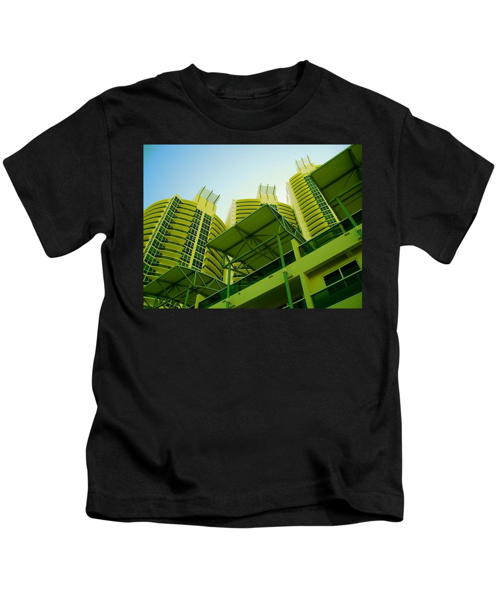 Kids T-Shirt featuring the photograph Murano Grande, Miami II by Monique's Fine Art