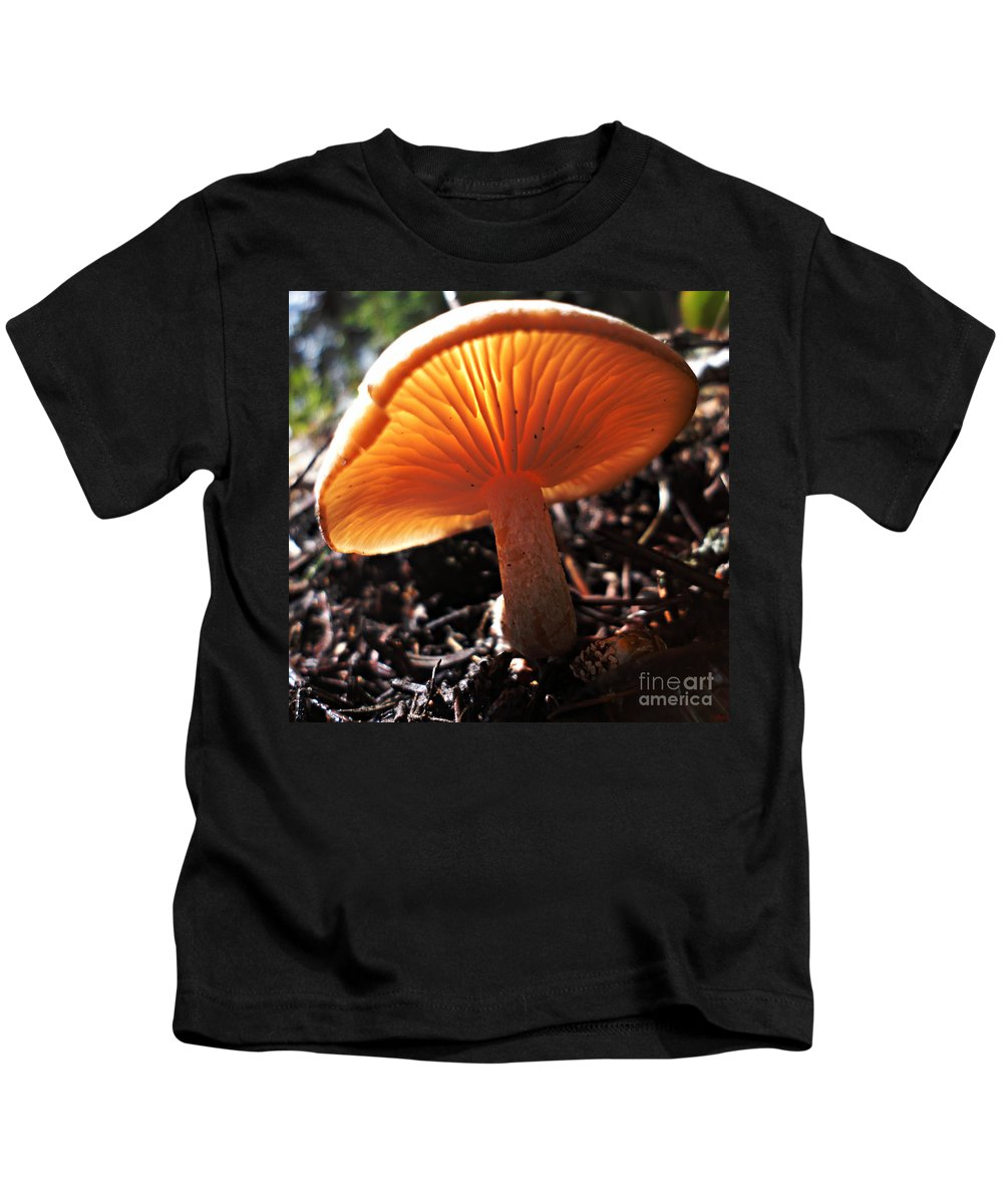 Landscape Kids T-Shirt featuring the photograph Mushroom by Janice Westerberg