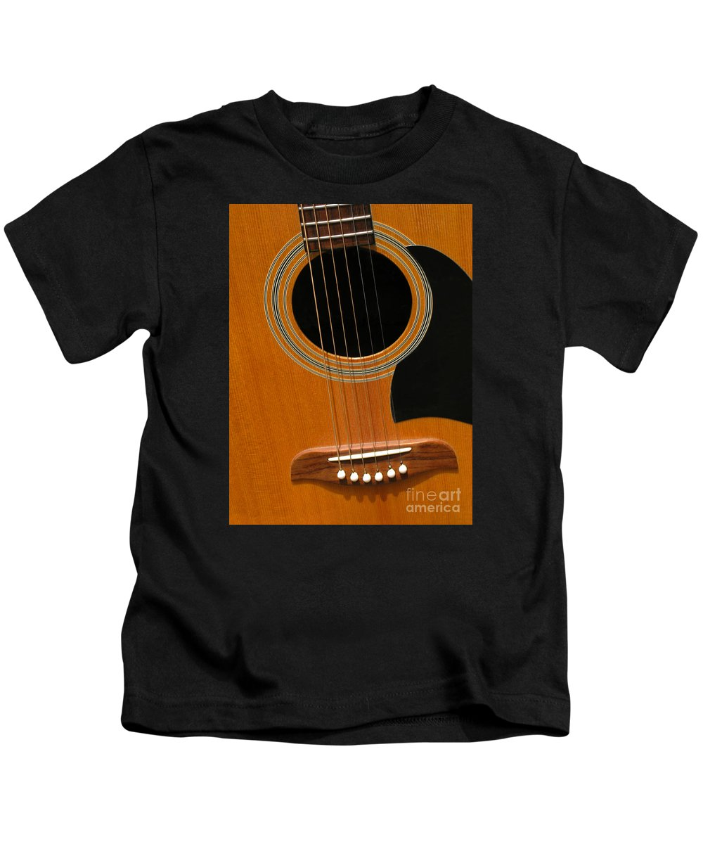 Guitar Kids T-Shirt featuring the photograph Musical Abstraction by Ann Horn