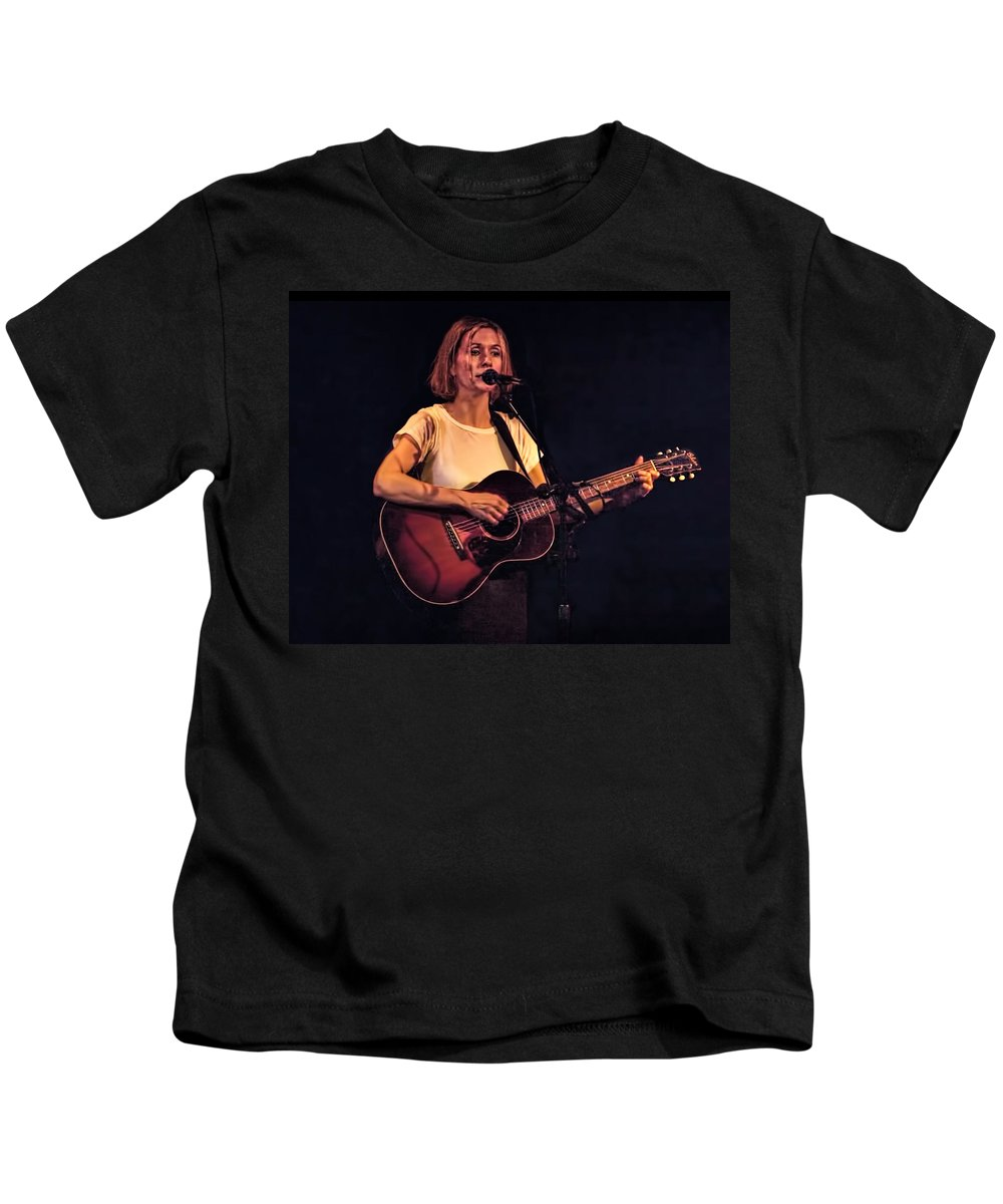 Art Kids T-Shirt featuring the photograph Musician And Songwriter Sam Phillips by Randall Nyhof