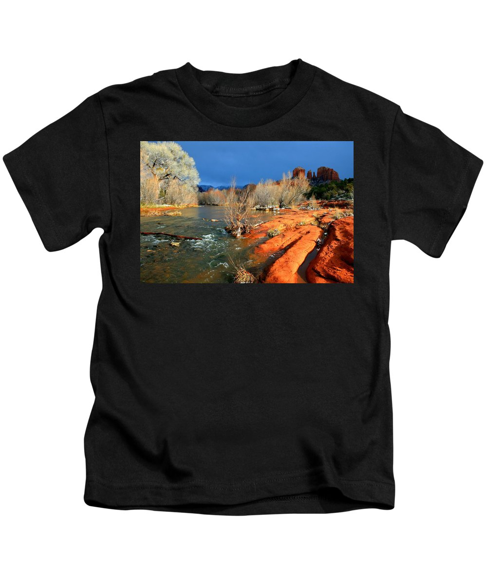 Arizona Kids T-Shirt featuring the photograph My December by Miles Stites