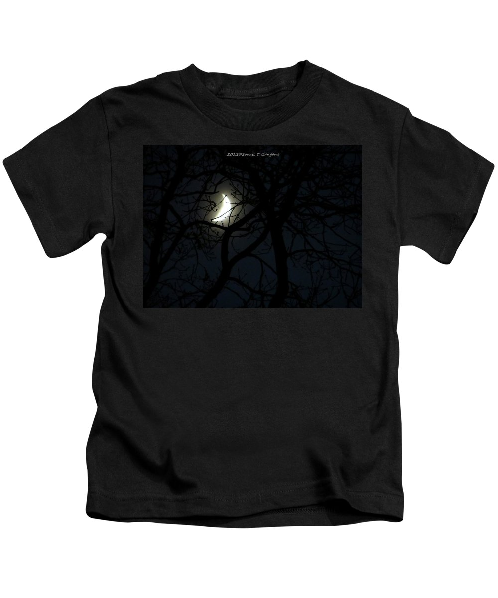 Celestial Neighbour Kids T-Shirt featuring the photograph Mystery by Sonali Gangane