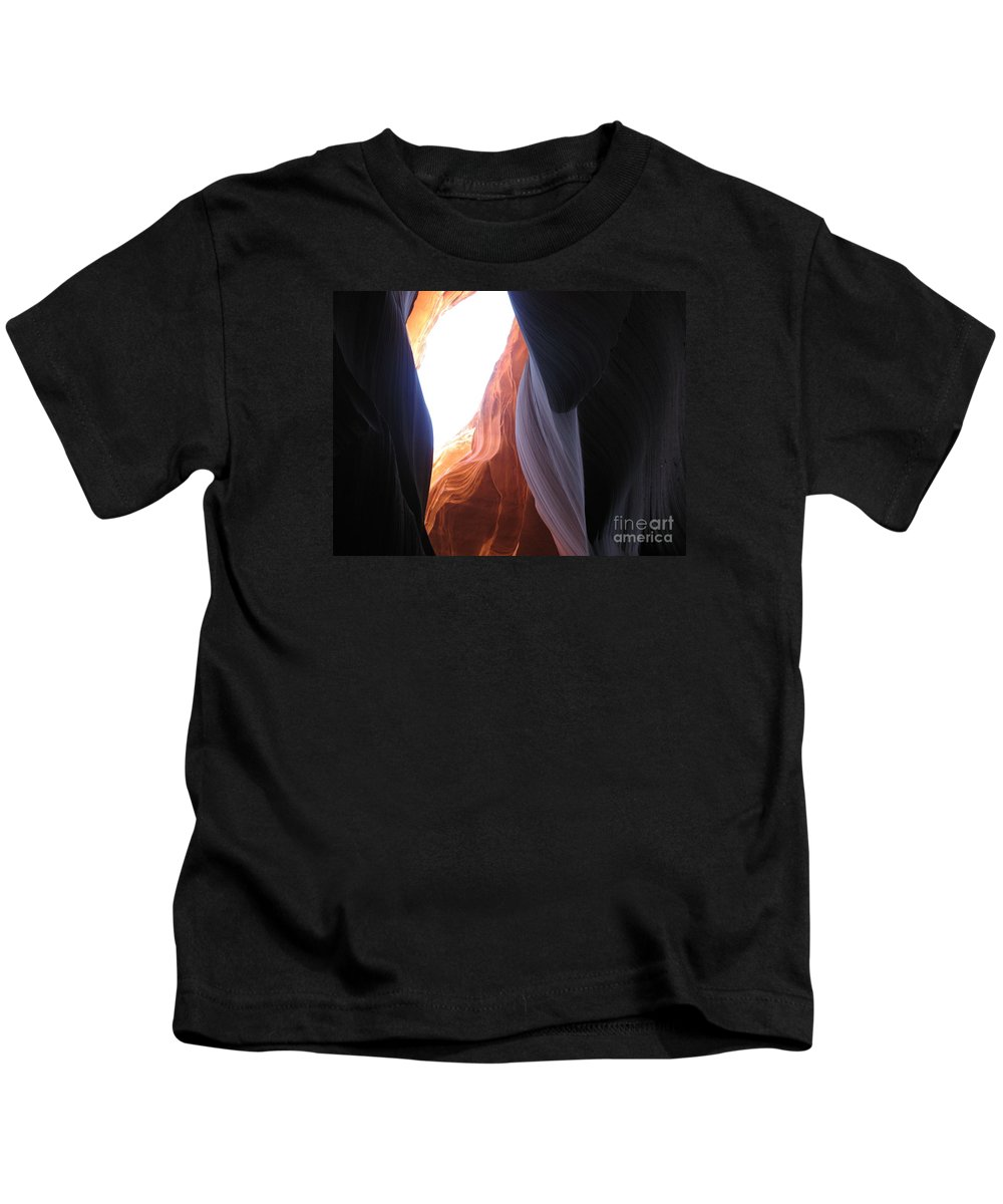Canyon Kids T-Shirt featuring the photograph Narrow Canyon V by Christiane Schulze Art And Photography