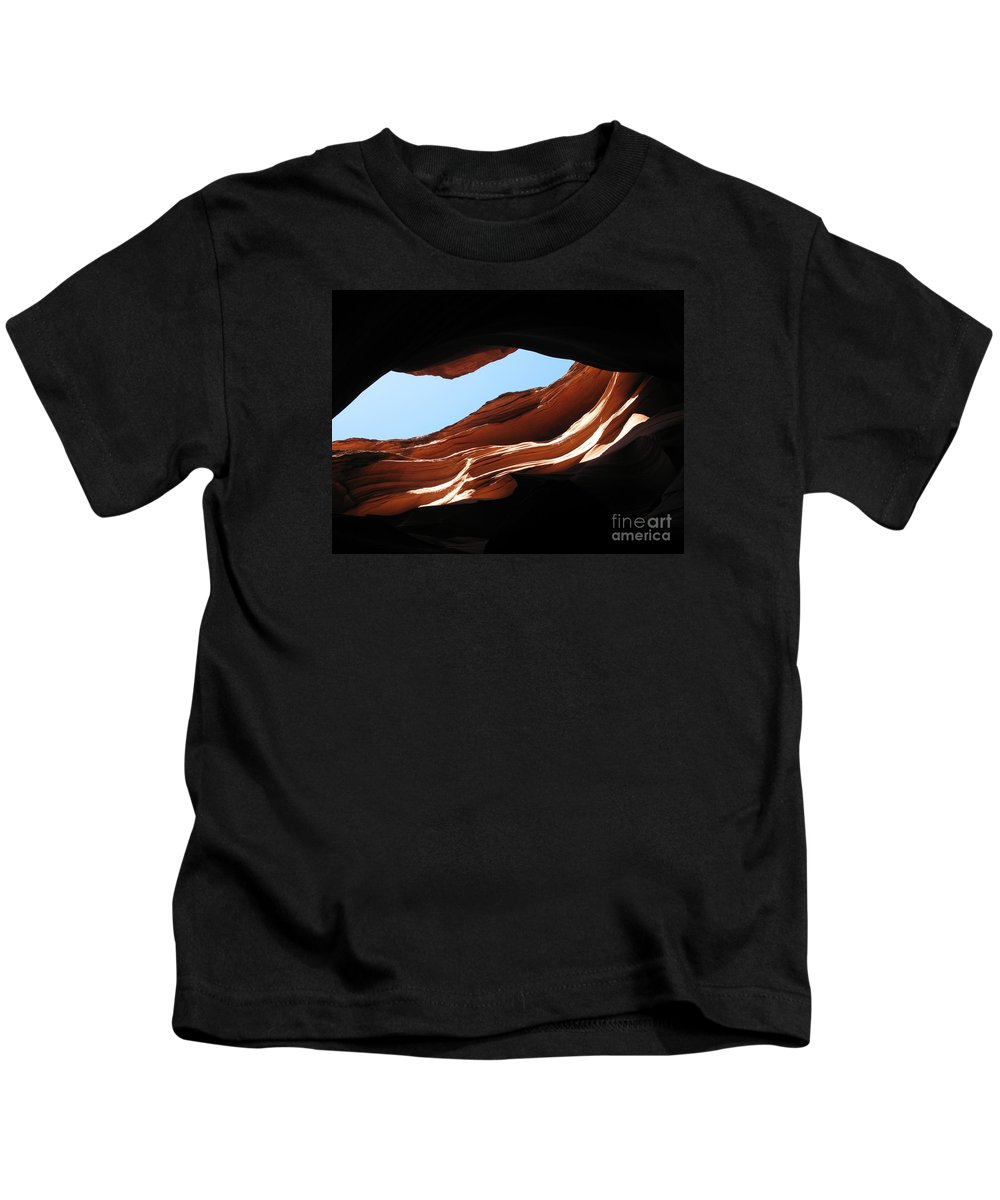 Canyon Kids T-Shirt featuring the photograph Narrow Canyon Vi by Christiane Schulze Art And Photography