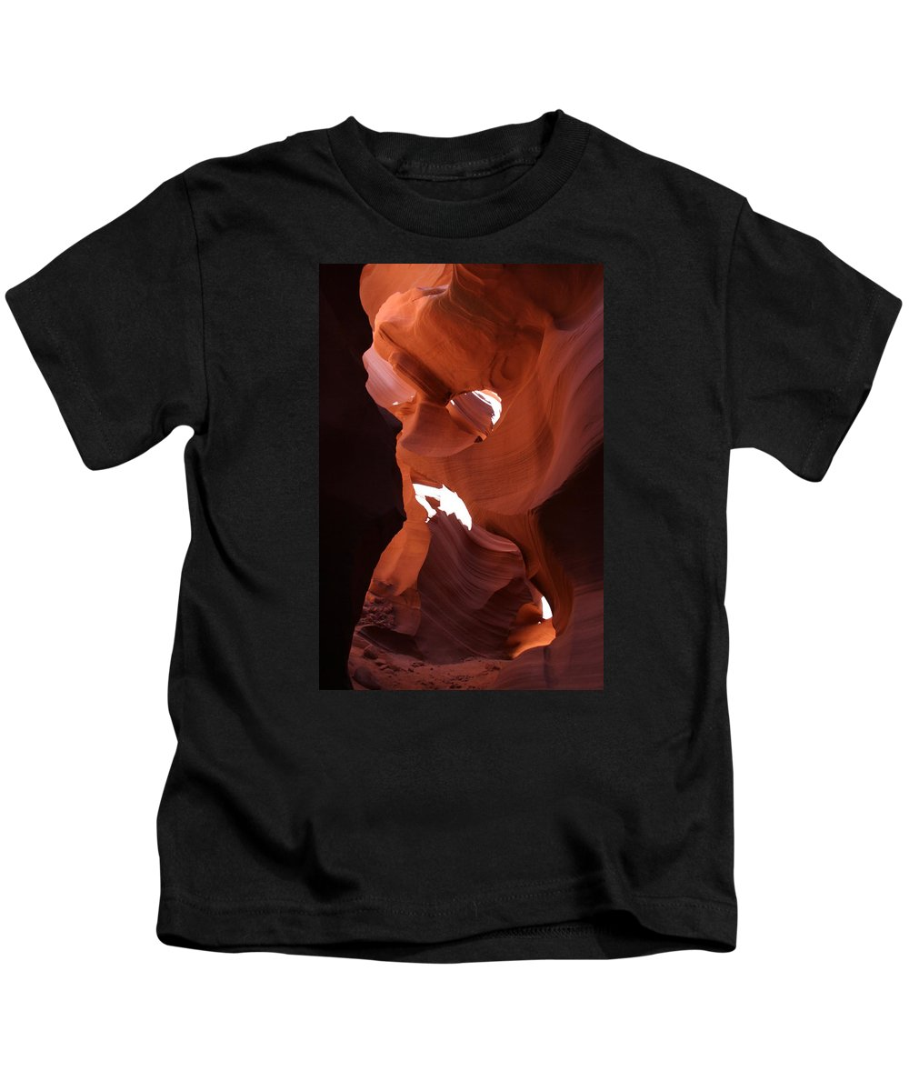 Canyon Kids T-Shirt featuring the photograph Narrow Canyon XIV by Christiane Schulze Art And Photography
