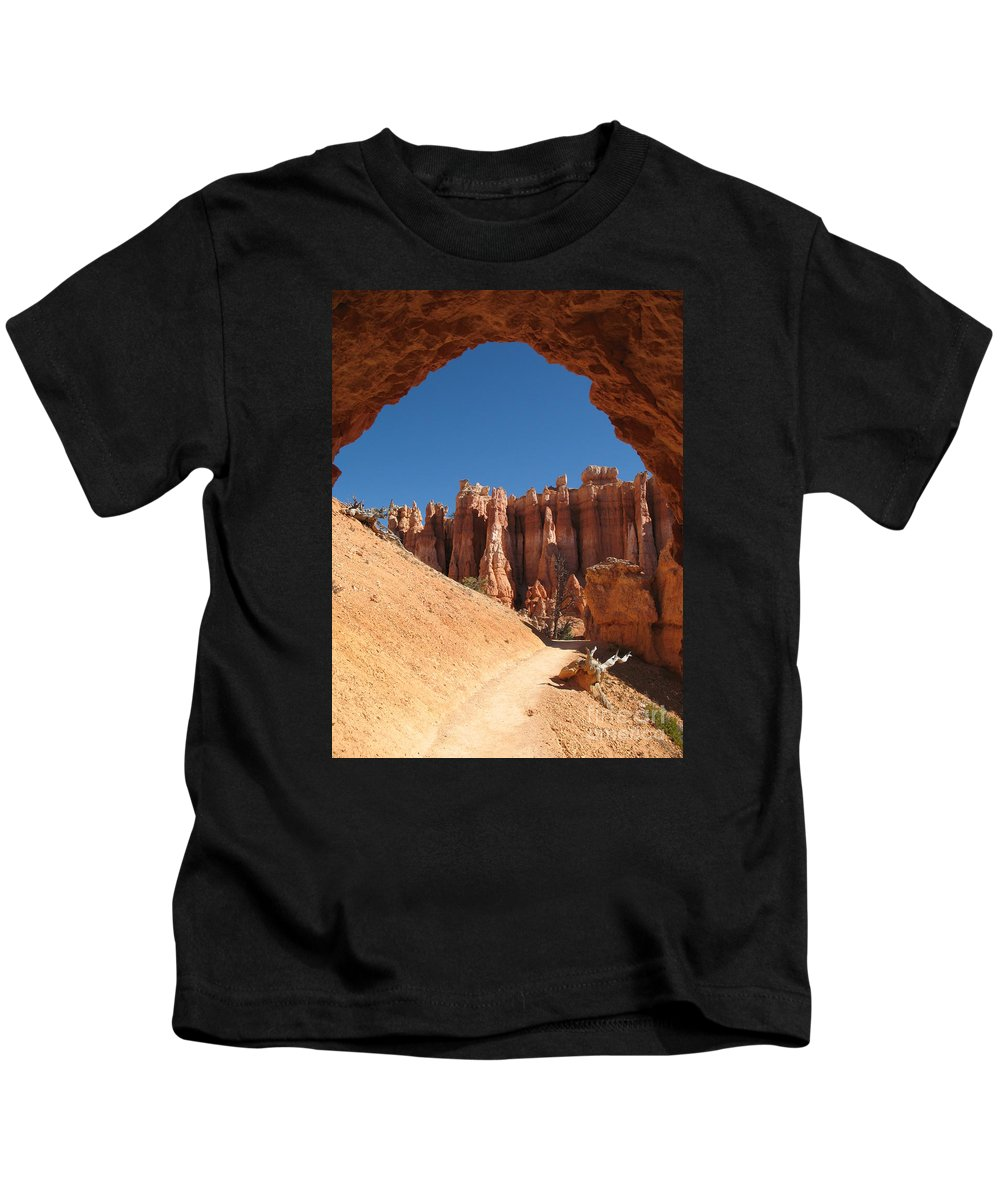 Arch Kids T-Shirt featuring the photograph Natural Archway - Bryce Canyon by Christiane Schulze Art And Photography