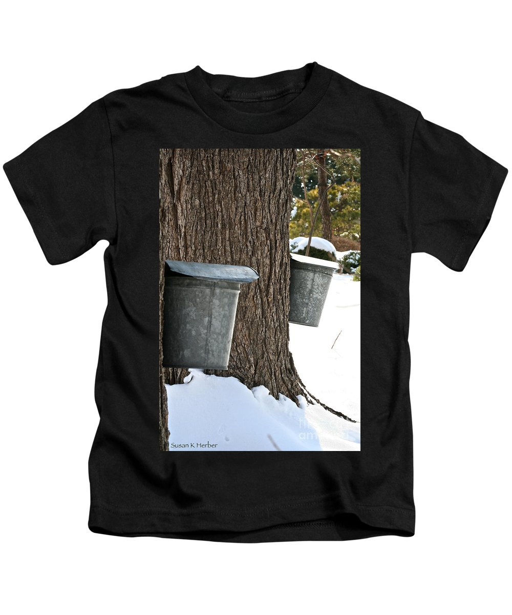 Tree Kids T-Shirt featuring the photograph Naturally Sweet by Susan Herber